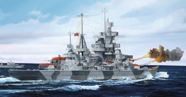German Admiral Hipper Heavy Cruiser 1941