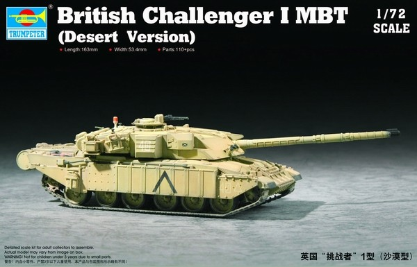 Modern British Challenger I Main Battle Tank Desert Version