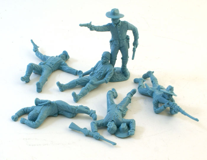 US Cavalry Dismounted with Casualties- Light Blue