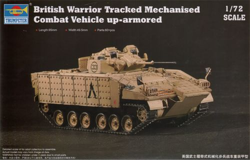 British Warrior Tracked Mechanized Combat Vehicle Up-Armored (New Variant)