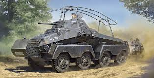 WWII German German 8-Wheeled SdKfz 232 Heavy Armored Vehicle
