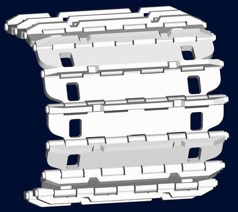 Strv 103 Workable Track Link Set (168 Links)