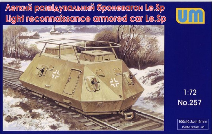 WWII German LeSp Light Recon Armored Railcar