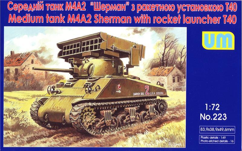 WWII U.S. M4A2 Sherman Medium Tank with T40 Rocket Launcher
