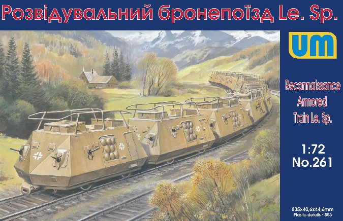 WWII German LeSp Recon Armored Railcars-  10 Cars