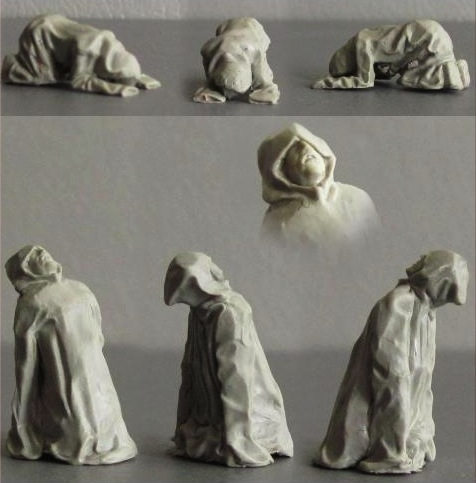 Medieval Grieving Monks