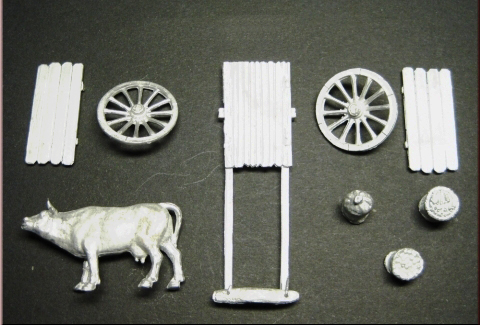 Medieval Wagon and Goods