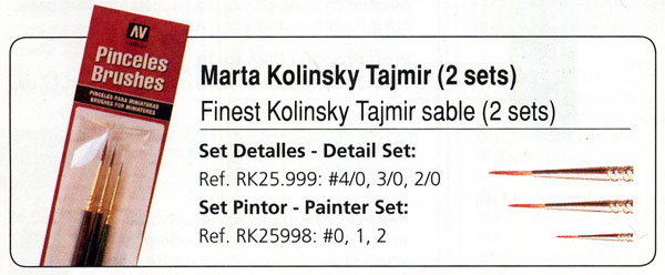 The Detailer Set- Finest Kolinsky Tajmir Sable Brushes