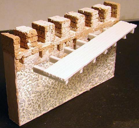 Medieval Castle Wall- Straight, 2 pieces
