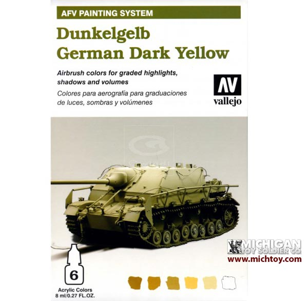 Vallejo AFV Armour Painting System: AFV German Yellow (Dunkelgelb)