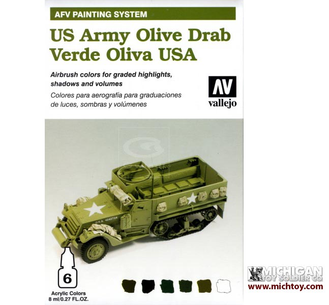 Vallejo AFV Armour Painting System: US Army Olive Drab Set