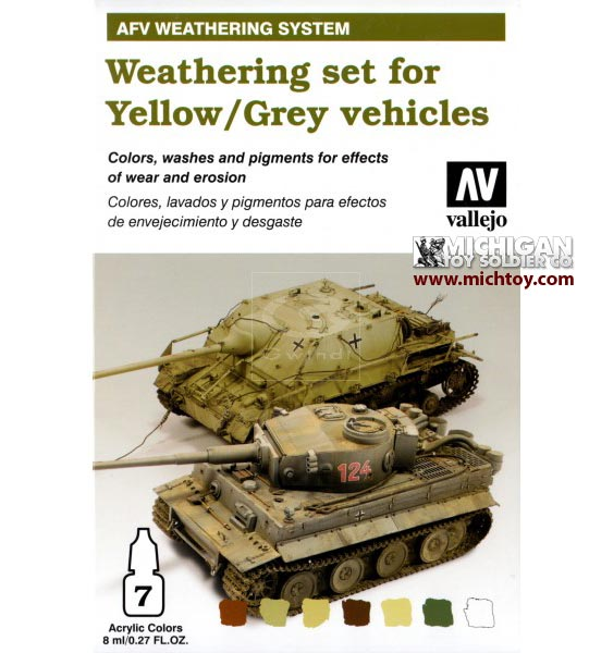 Vallejo AFV Weathering System: Yellow-Grey Vehicles Weathering Se