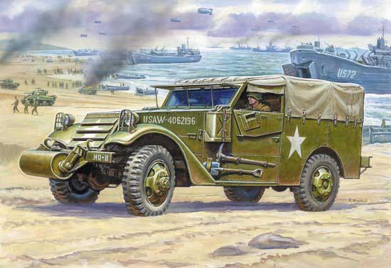 M3 Armored Scout Car with Canvas Cover