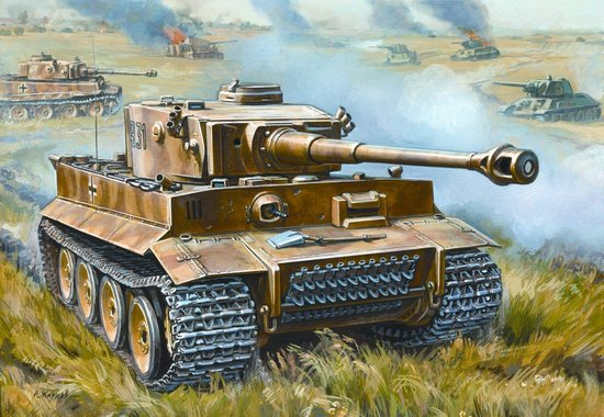 WWII German Tiger I - Panzerkampfwagen IV Tiger I Early- Snap Kit