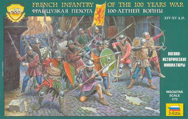 Reissue- Medieval French Infantry, 100 Years War