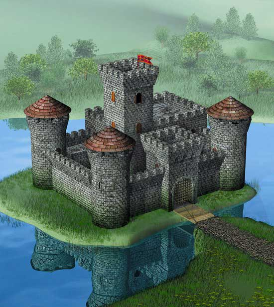 Medieval Stone Castle