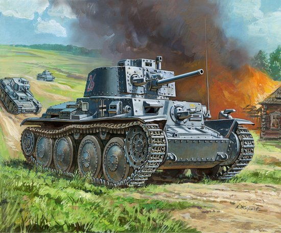Масштабная модель плавающий танк т-38