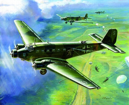 WWII German Junkers Ju-52 German Transport Plane