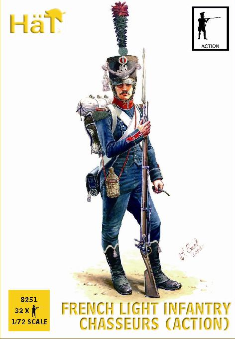 Napoleonic French Chasseurs in Action