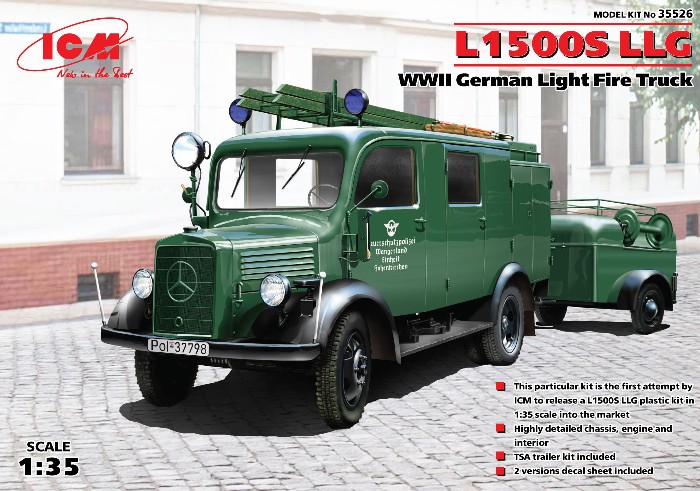 WWII L1500S LLG German Light Fire Truck