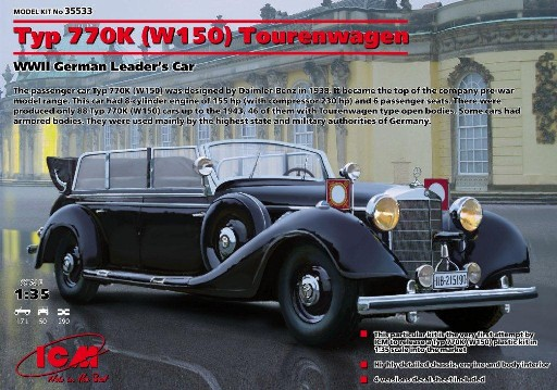 WWII Type 770K W150 Tourenwagen German Leaders Car