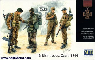 WWII British Troops Caen 1944