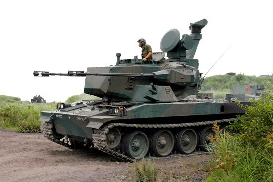 Japanese JGSDF Type 87 AW Self Propelled  Anti-Aircraft Gun