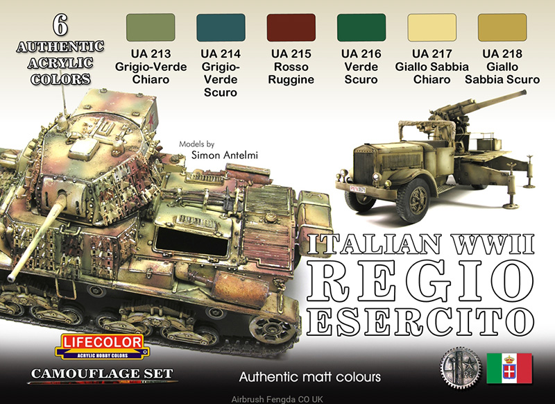 World War II Camouflage Italian Army Vehicles