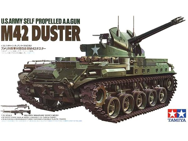 US Army M42 Duster Tank with Self-Propelled AA Gun