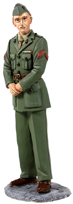 Jack Tars & Leathernecks Collection: U.S. Marine in Green Winter Service Dress, WWII