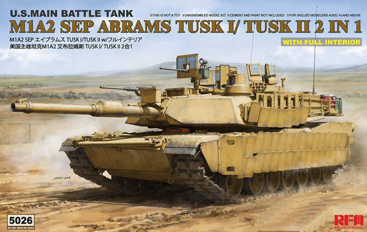 M1A2 SEP Abrams TUSK1/TUSK2 (2in1) with Full Interior