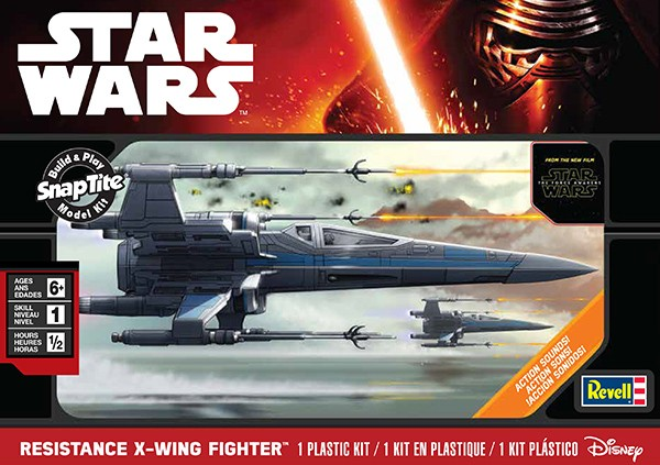 Star Wars The Force Awakens: Resistance X-Wing Fighter w/Sound (Snap)