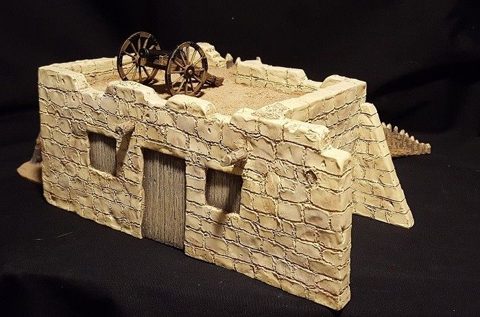 W Britains RC2 Alamo North Wall Set
