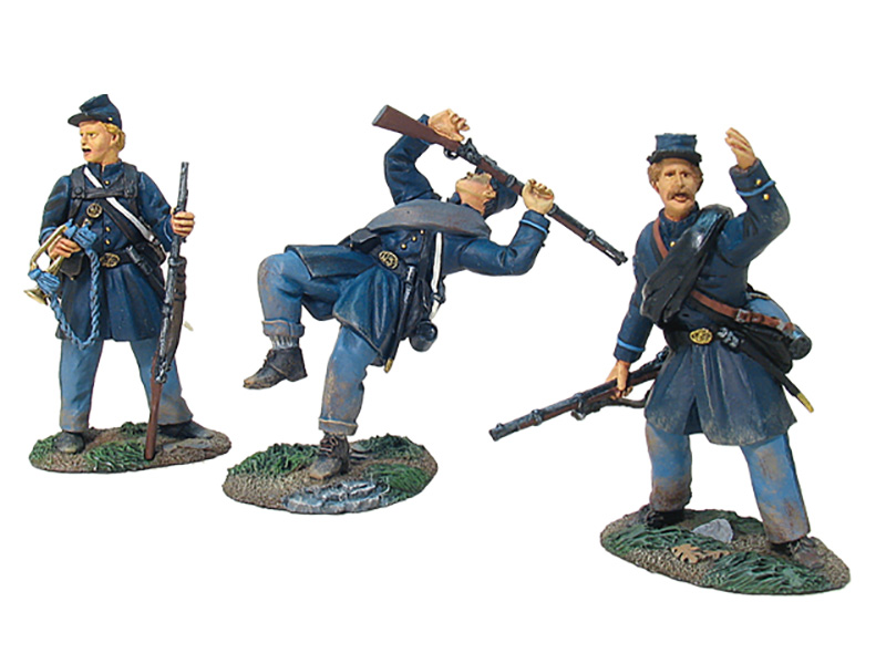 UNION INFANTRY IN FROCK COATS MUSICAN/WOUNDED SET #17664-1 AVAILABLE OOP