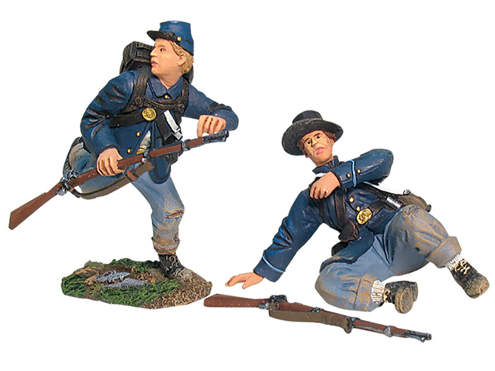 UNION INFANTRY IN SACK COATS ROUTING SET NO.2 #17897-1 AVAILABLE OOP