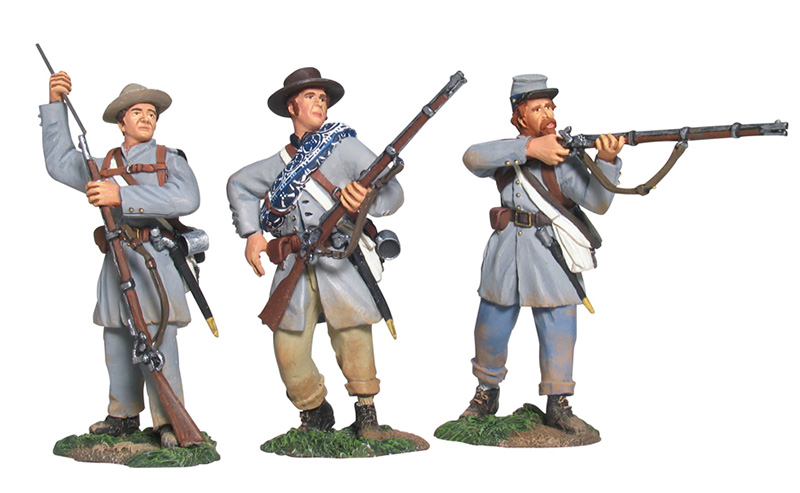 CONFEDERATE INFANTRY IN FROCK COATS FIRING LINE SET NO.1 #17936-1 AVAILABLE OOP