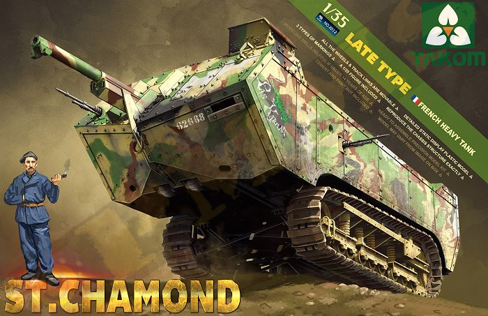 WWI St.Chamond (Late Type) WWI French Heavy Tank