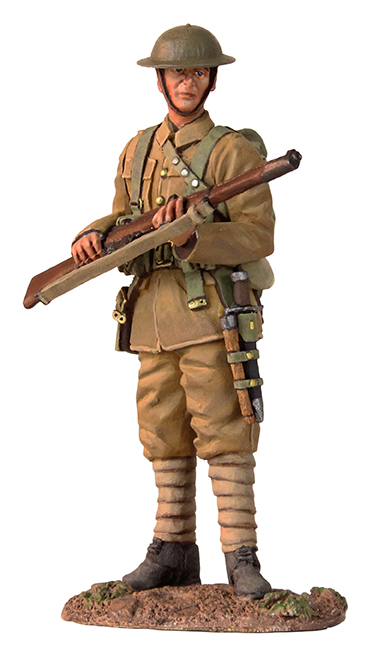WWI British Infantry 1916-17 Standing On Watch