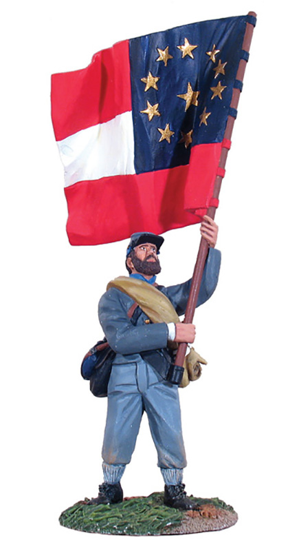 CONFEDERATE INFANTRY REGIMENTAL FLAGBEARER #4, 1ST MARYLAND #31014-1 AVAILABLE OOP