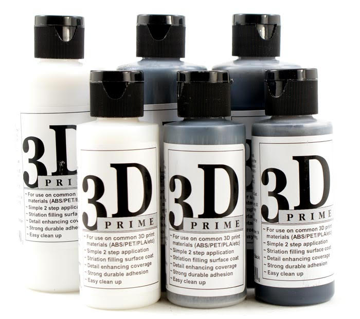 3D Prime - Primer Color Coat White - 2 oz Bottle