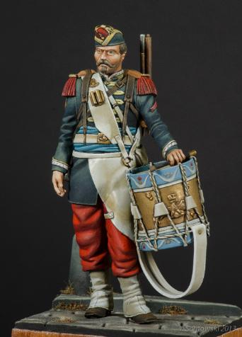 French Drummer Franco-Prussian War with scenic base - ONLY 1 AVAILABLE