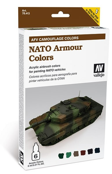 Vallejo AFV Armour Painting System: NATO Armour Camouflage Colors Set