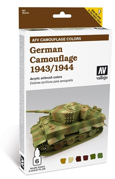 Vallejo AFV Armour Painting System: German Camouflage 1943-44 Colors S
