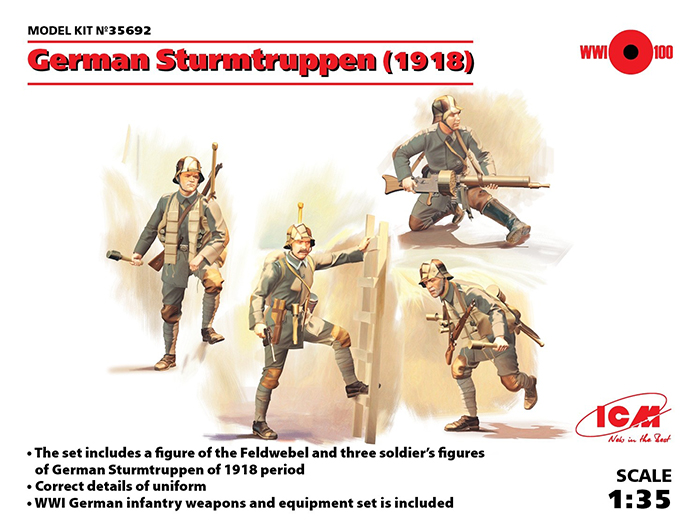 WWI German Sturmtruppen 1918