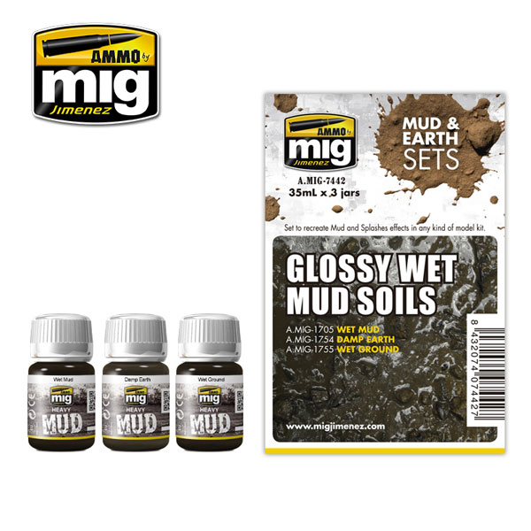 Mud and Earth Sets: Glossy Wet Mud Soils