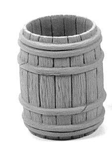 Wooden Barrel - Half Open