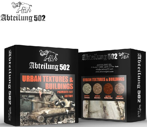 502 Abteilung Weathering Pigment Set- Urban Textures & Buildings