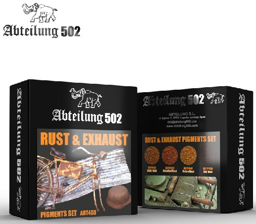 502 Abteilung Weathering Pigment Set- Rust & Exhaust