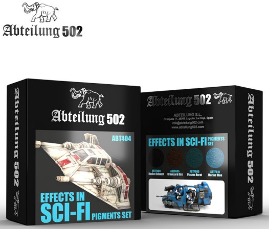 502 Abteilung Weathering Pigment Set- Effects in Sci Fi