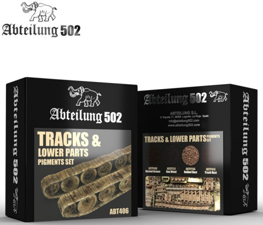 502 Abteilung Weathering Pigment Set- Tracks & Lower Parts